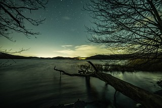 Nachthimmel über dem Laacher See