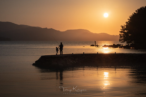 sunset landscape seascape waterscape sea island reflection sky terashima omura nagasaki japan