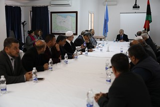 SRSG Ghassan Salamé meeting with delegation from Zawiyah at UNSMIL HQ, Tripoli-Libya | by United Nations Support Mission in Libya