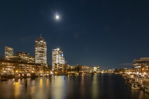 Amsterdam - view on river amstel