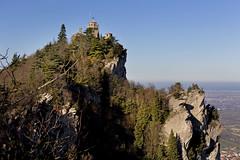 At the edge of Monte Titano