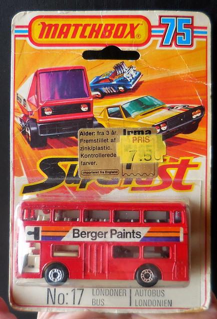 Matchbox Superfast #17 Fleetline Londoner bus German blister