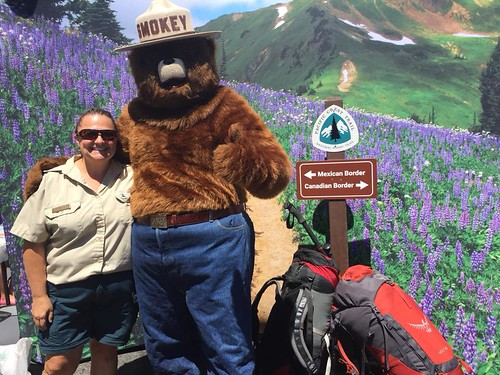 Smokey and friend at the PCT Trail Town Celebration