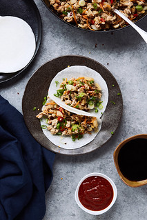 Keto Asian Chicken Lettuce Wraps {Paleo, Whole30} | by Tasty Yummies