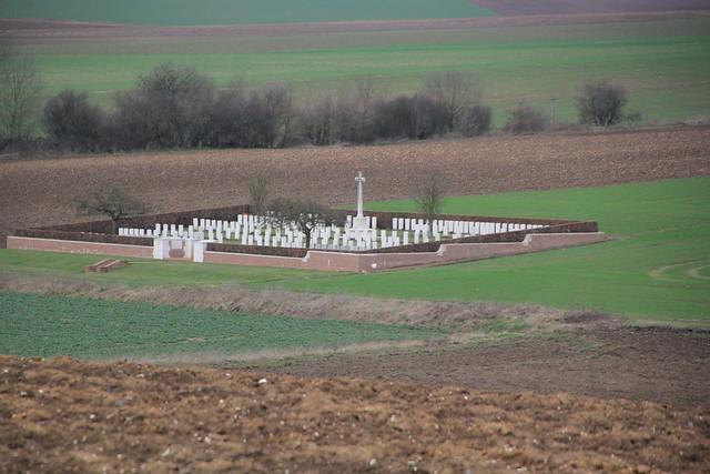 Thistle Dump Cemetery, High Wood, Longueval, France. WW1.