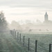 Kerk Giesbeek in de mist
