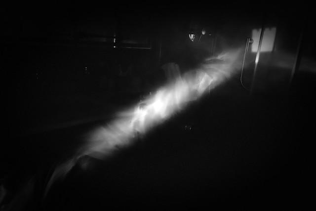 Un rayo de humo