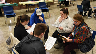 Thu, 11/15/2018 - 12:30 - Photograph from the Disrupting Poverty simulation, courtesy of GCC