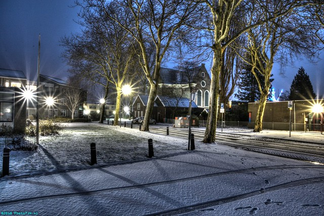 Some snow in Westzaan.
