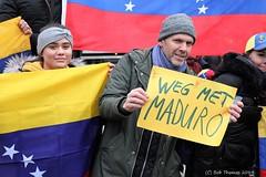 Protest tegen president Maduro
