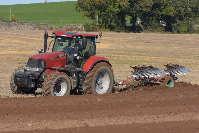 Case IH Puma 220 Tractor with a Kverneland 7 Furrow Plough
