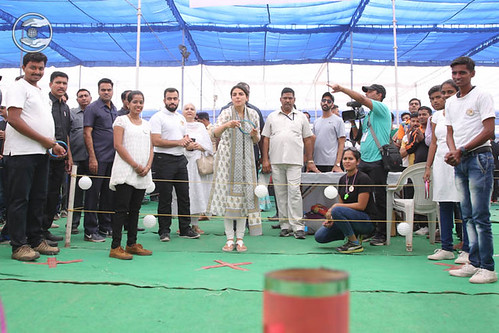 Blessings by Satguru Mata Ji at pavilion of Rings games