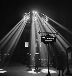 Shedding Light: In the waiting room of the Union Station. Chicago, Illinois. January 1943.