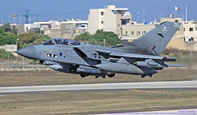 ZG709 LMML 01-08-2011 United Kingdom - Royal Air Force (RAF) Panavia Tornado GR.4A CN 816/BT176/3392