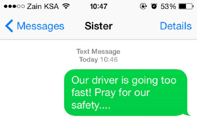 "1408 British Family killed in Makkah, Final SMS ""Our driver is going too fast"