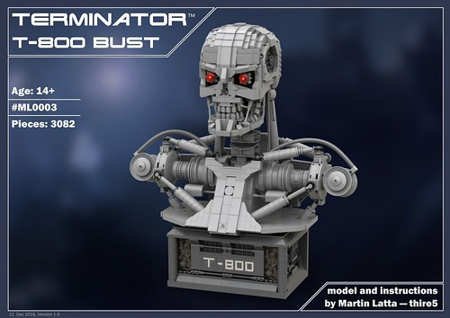 T-800 Terminator Bust INSTRUCTIONS