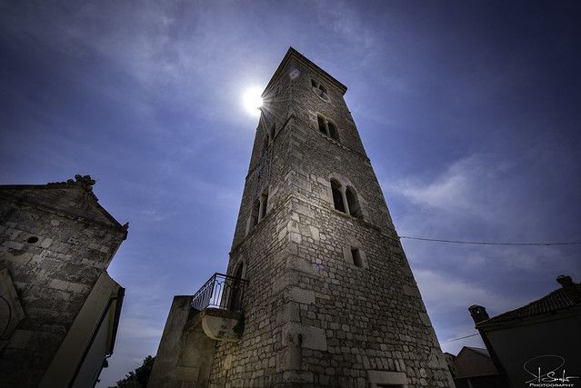 The Church of St Anselm on town square in Nin - Croatia