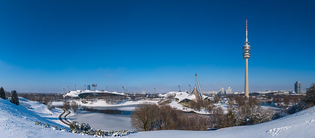 München, Olympiapark im Winter
