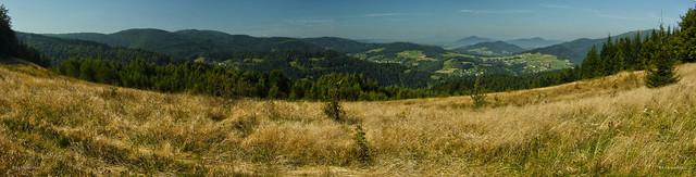 Beskid Wyspowy Mountains - panorama from Mogielica