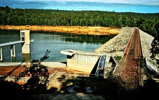 Jul 1984 - View looking south-west across Serpentine Dam, Western Australia