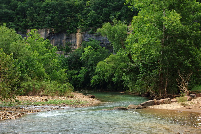Buffalo River at Downsteam End of Steel Creek Campground - Northwest Arkansas