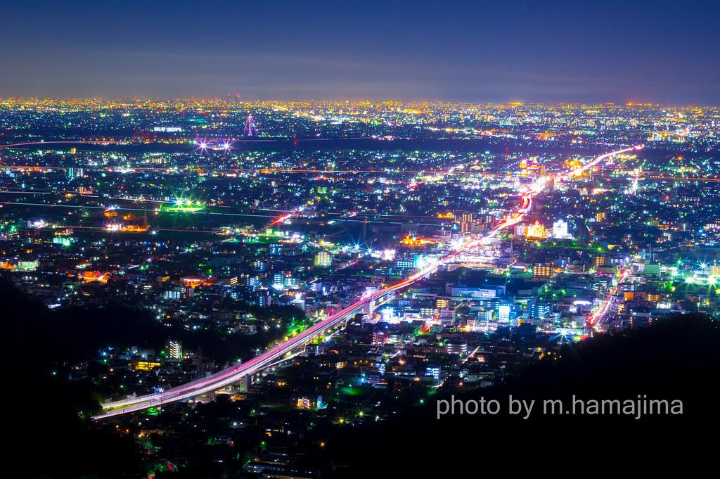 金 華山 夜景