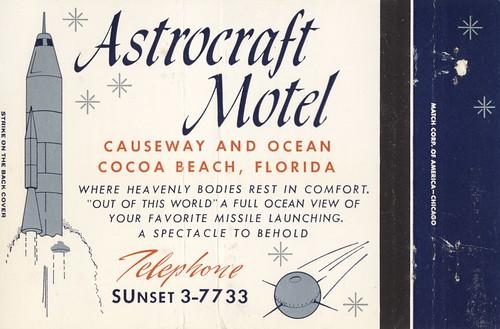 vintage motel matchbook hotel