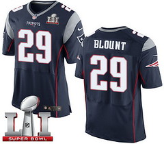 Nike Patriots #29 LeGarrette Blount Navy Blue Team Color Super Bowl LI 51 Men's Stitched NFL New Elite Jersey