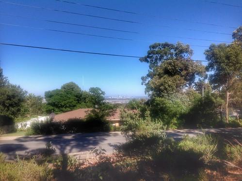 perth city stadium australia skyline kalamunda hills stad uitzicht view