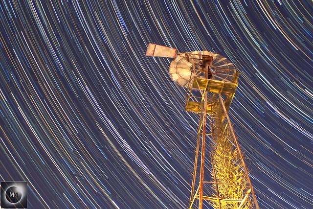 1 Hour 20 Min Windmill Star Trails (Reprocess)