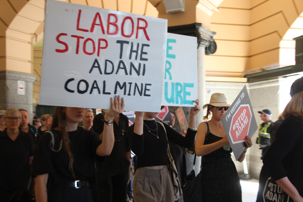 Labor needs to stop Adani coal mine - Funeral for our future - Melbourne - IMG_3566