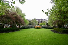 Park near Rembrandts Plein and Utrecht?se Straat Amsterdam North Holland the Netherlands May 8 2004