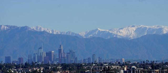 Snow Above LA (Morning)