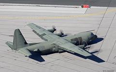 Royal Air Force Lockheed C-130J Hercules C4 ZH879 departing RAF Gibraltar/LXGB