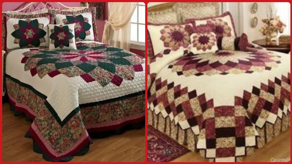 Classy Applique Work Bed Sheet Designs Applique Work Ideas For Bridal Bedsheet A Photo On Flickriver