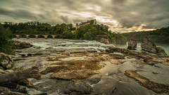 evening at the Rhine Falls 3.)1810-483