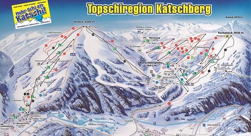 Katschberg - mapa sjezdovek