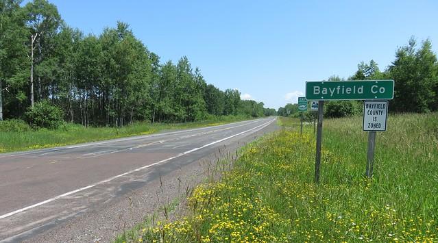 Entering Bayfield County (Bayfield County, Wisconsin)