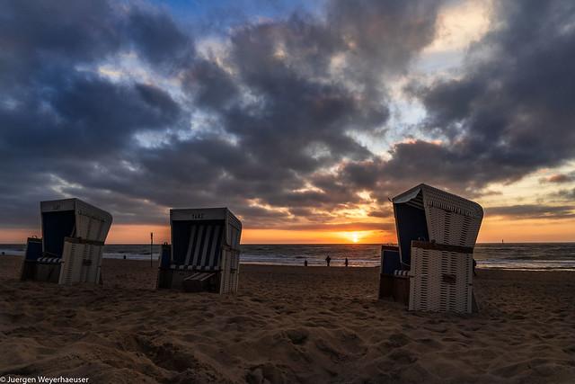 Rückblick 2018 - Sylt Sonnenuntergang Westerland
