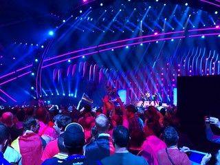 Mikolas Josef from the Czech Republic performing at the Eurovsion Song Contest