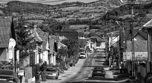 rumänien road strasse blackwhite schwarzweiss bistritanasaud