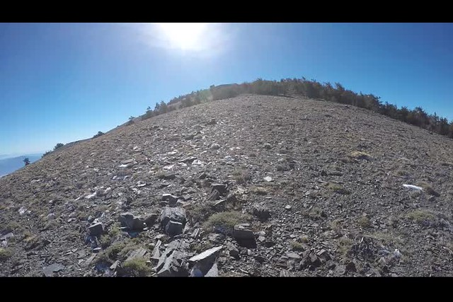 0851 Video from the Telescope Peak Trail where we could see both the highest and lowest points in the 48 states