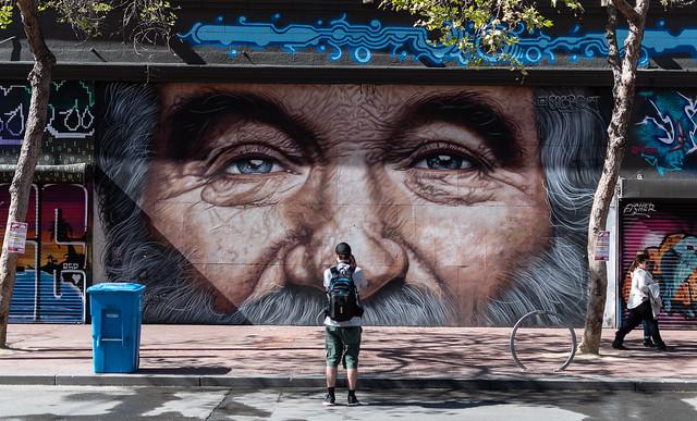 Market Street - drawing of Jerry Garcia