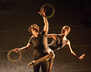 """Foto Gandini Juggling """"4x4 Ephemeral Architectures"""" at The Linbury Studio Theatre, London on January 12 2015. Directed by Sean Gandini, choreographed by ex Royal Ballet dancer Ludovic Ondiviela and featuring a lighting design by Guy Hoare, 4 x 4 will premieres on 14th January 2015 as part of the London International Mime Festival Photo: Amber Hunt"""
