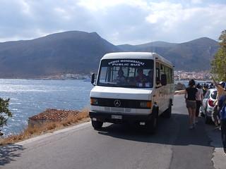 Public bus at Monemvasia, Greece
