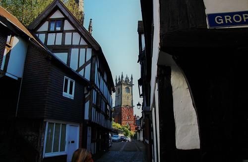 europe england shropshire shrewsbury sunlight streetview simplysuperb church halftimberedhouse historicbuilding