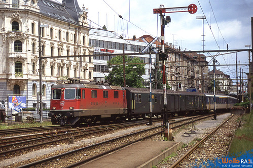 Re 4.4 II 11214 SBB . St Gallen . 18.07.90 .