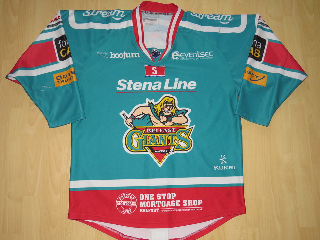 d898cd33d ... kirusgamewornjerseys Belfast Giants 2013 - 2014 home Game Worn Jersey
