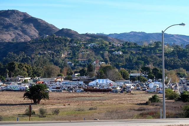 fire command center in Malibu