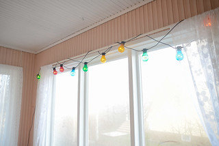 Colorful lights on the porch | by jutta / kootut murut